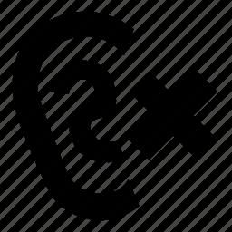 no, quiet, sound icon