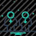 female, gender, heterosexual, male, sex, unisex icon