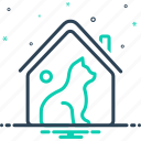cottage, dog, domain, habitat, haunt, home, pet icon
