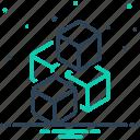 glaze, cube, freeze, beverage, rime, ice, frost icon