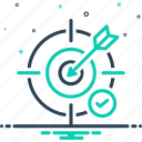accuracy, bullseye, challenge, dart, goal, objective, unprejudiced icon