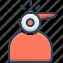 liability, whistle, whistleblower icon