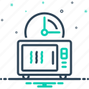 appliance, facilely, hastily, machine, quickly, speedily, timer icon