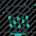 downpour, drizzle, precipitation, rain, raindrops, rainfall, weather