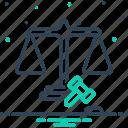 adequately, balance, equal, equilibrium, fairly, judge, justice icon