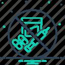 banned, criminal, illegal, illegitimate, illicit, prohibited, unlawful icon