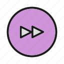 arrow, direction, next, right