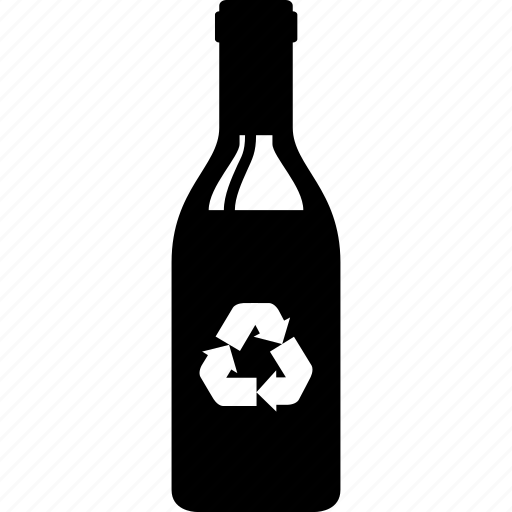 alcohol, bottle, glass, recycle, recycling, wine icon