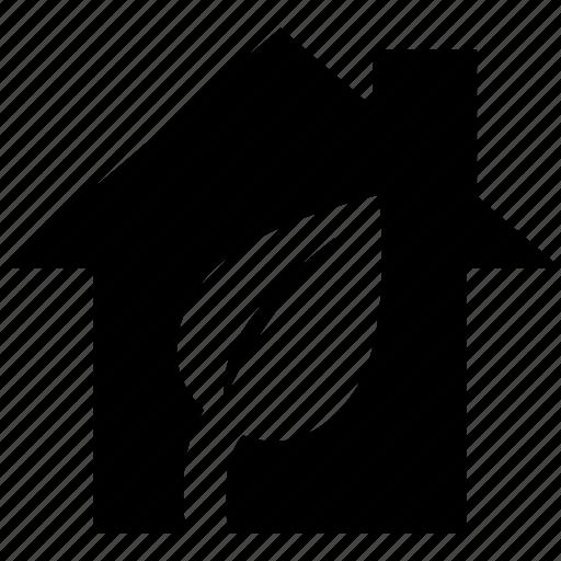 eco, ecology, home, house, leaf icon