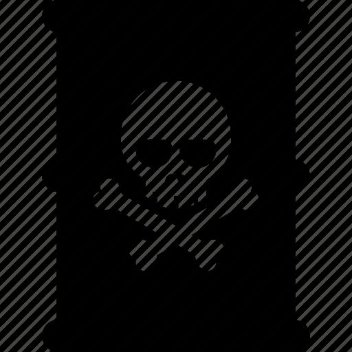 barrel, poison, skull, toxic, waste icon
