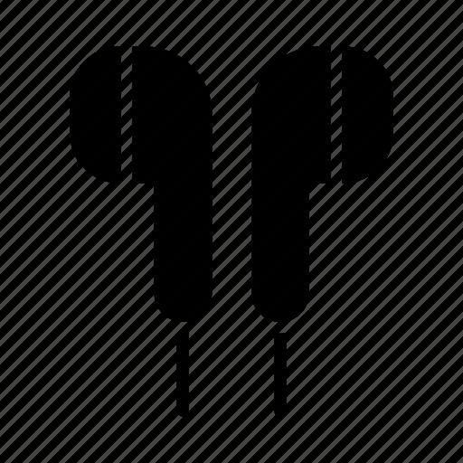 Earphones, earpiece, headphones, listen, music, sound, audio icon - Download on Iconfinder