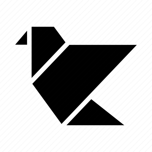 art, bird, folded, folding, handmade, origami, paper icon