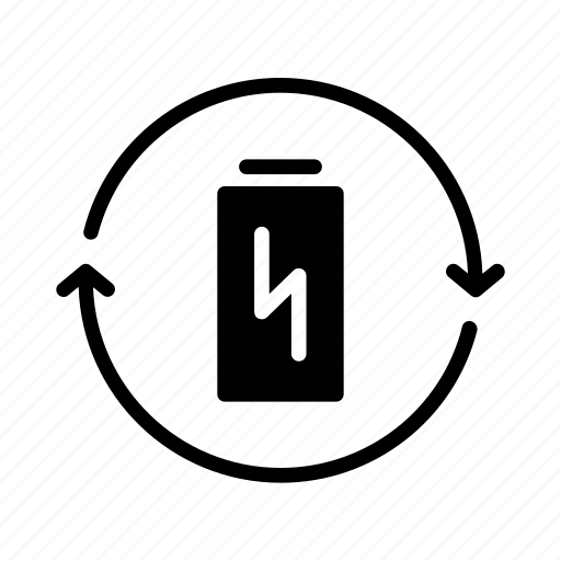 Battery, power, rechargeable, recycling, renewable, reusable, charging icon - Download on Iconfinder