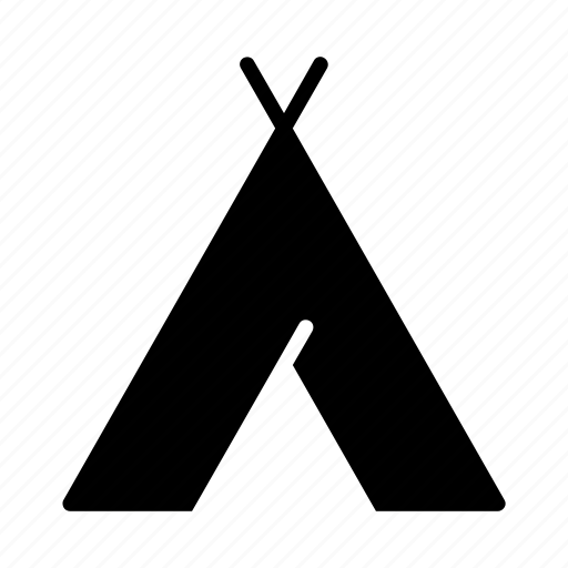 camp, camping, native american, outdoors, tent, tepee, tipi icon