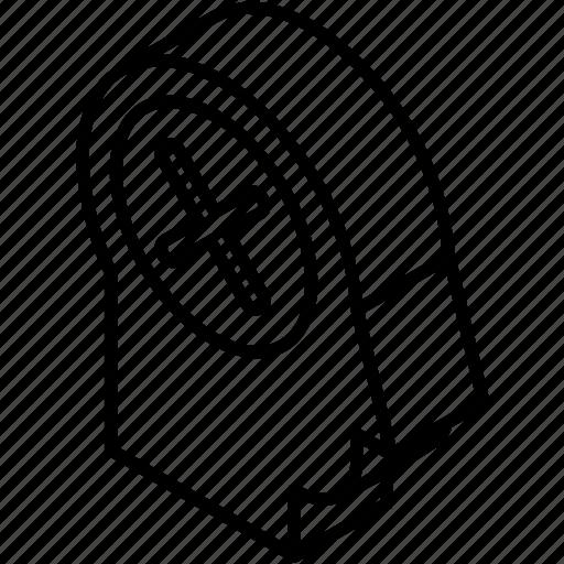 ban user, delete, delete user, face, head, isometric, remove icon