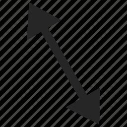 arrow, bigger, down, head, top icon