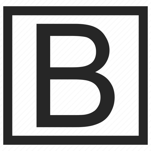 b, bold, letter icon