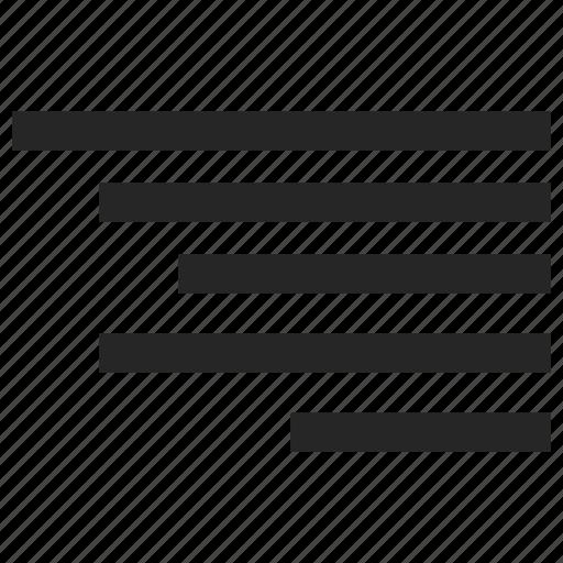 align, alignment, right, text icon