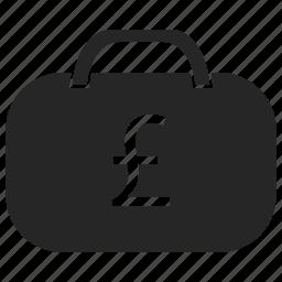 bag, briefcase, cash, euro, money, suitcase icon