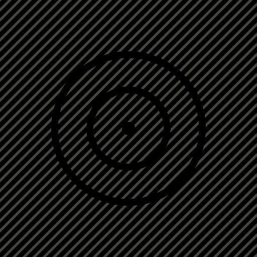 archery, focus, target icon