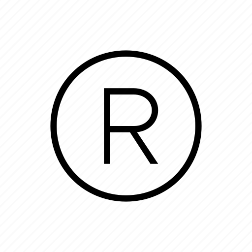 protection, registered, trademark icon