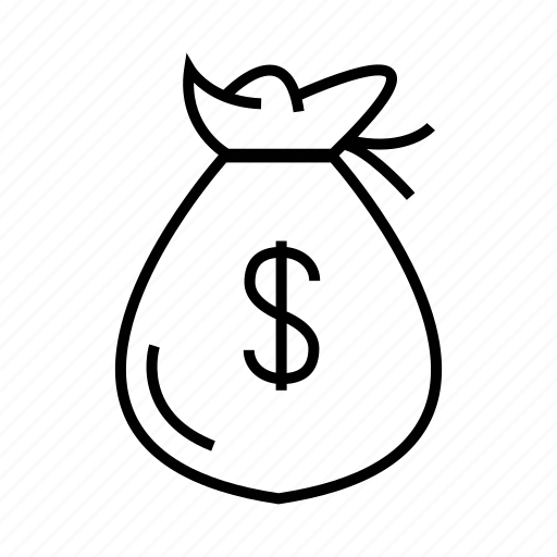 cash, dollar, money, sack icon