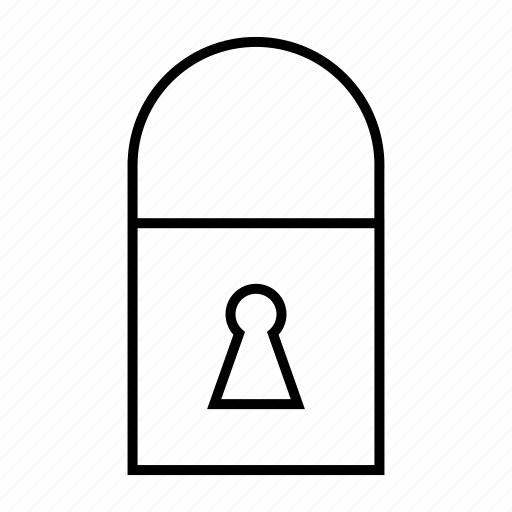 Hanging lock, lock, locked, private, safety icon - Download on Iconfinder