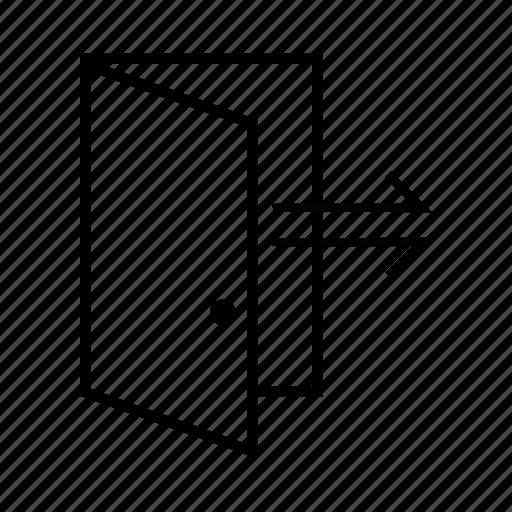 door, exit, logout icon