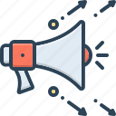 blog, campaign, digital, marketing, megaphone, promo, sound