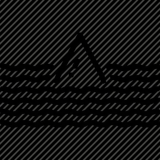bottomless, deep, flood, submerge, sunk, torrent, yawning icon