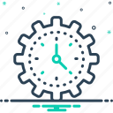 ability, concept, efficiency, gauge, management, speed, time icon