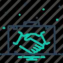 briefcase, business, collaborator, colleague, comrade, marketing, partner icon