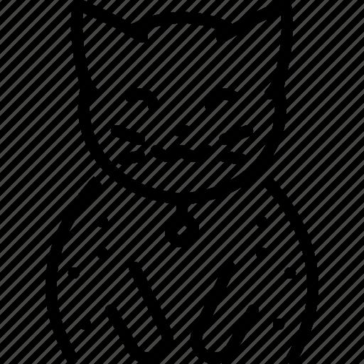 animal, cat, cute, domestic, kitten, sitting icon