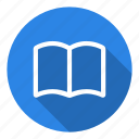 book, education, learning, library, notebook, school, study icon