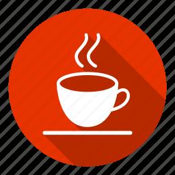 coffee, coffee cup, cup, hot coffee, tea, tea cup, tea hot icon