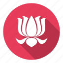 bloom, floral, flower, lotus, yoga icon