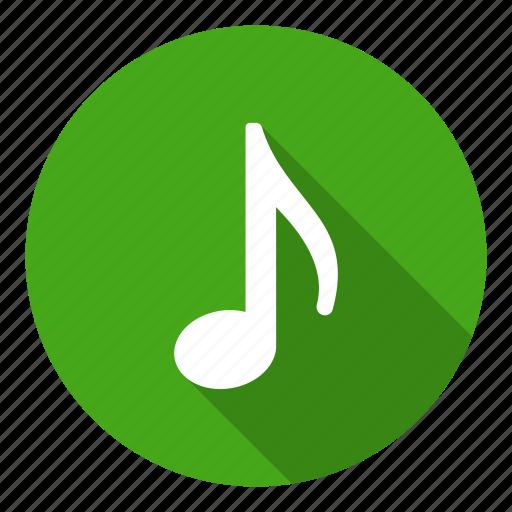 audio, music, note, quaver, sound icon