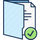 accept, document, folder icon