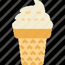 cream, dessert, ice icon