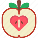 apple, healthy icon