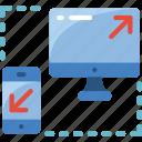 phone, responsive, technology icon