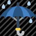 rain, rainy, umbrella icon