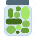 bottle, jar, pickles icon