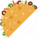 cooking, food, taco icon