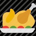 food, meal, turkey icon