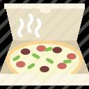 food, pizza, restaurant icon