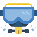 diving, mask, swimming icon