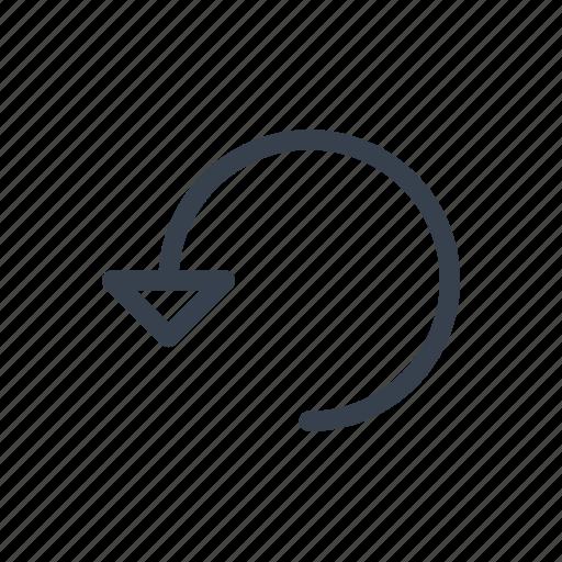 arrow, circular, left, rotate, rotation, turn icon