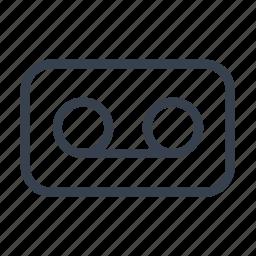 audio, cassette, film, music, video icon
