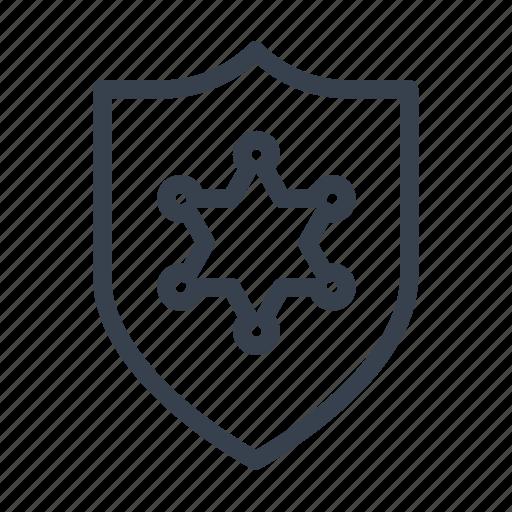 badge, cops, emblem, patch, police, sheriff, sheriffs icon